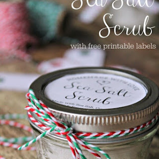 Sea Salt Scrub with Printable Labels.