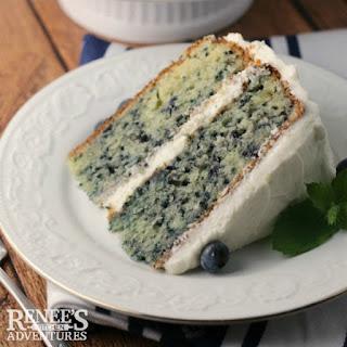 Fresh Blueberry Cake.