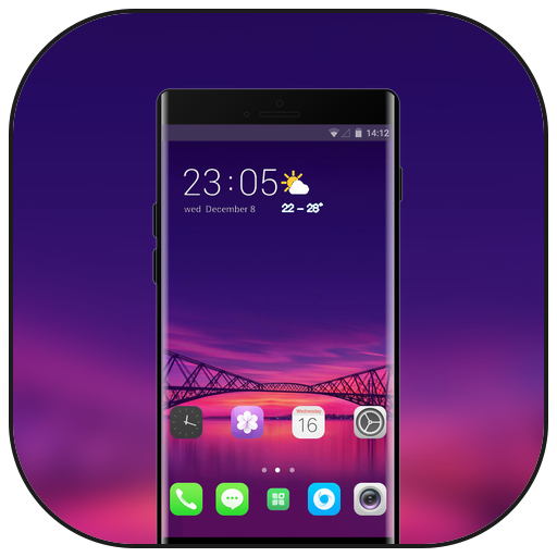 Theme for Oppo Realme 2 building color wallpaper icon