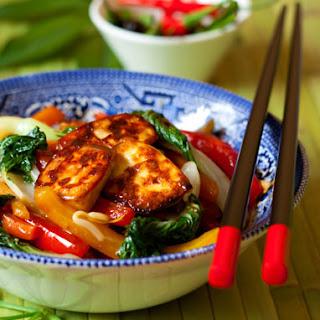 Cambodian Stir Fried Tofu With Amchur