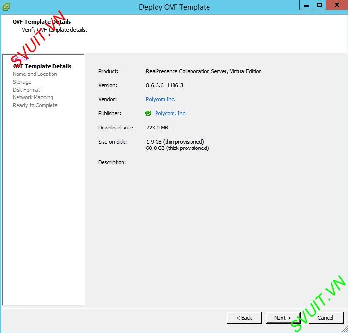 Deploy MCU Polycom RMX Virtual Edition (3)