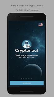 Cryptonaut - Bitcoin / Altcoin Portfolio Tracker - náhled