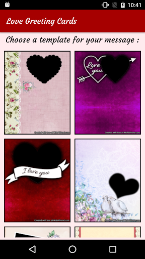 Love Greeting Card Maker - Love Messages & Cards  screenshots 1