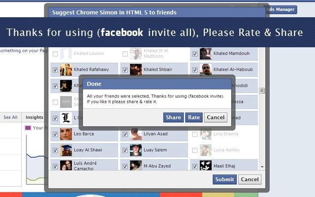 Invite all Facebook friends - Chrome Web Store