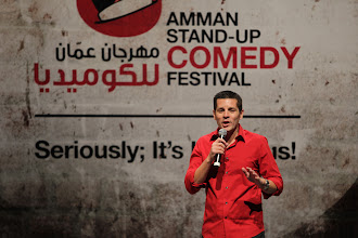 Photo: Performing at the 3rd annual Amman Stand Up Comedy Festival - 2010