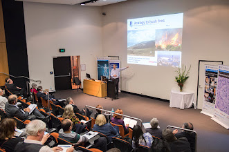 Photo: Prof Kit Fairley on how infectious some diseases are. http://www.med.monash.edu.au/cecs/events/2015-tr-symposium.html