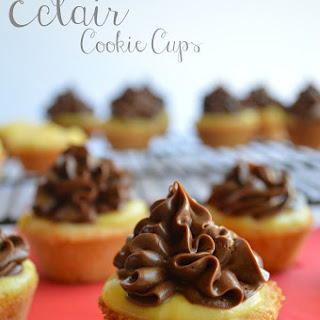 Eclair Cookie Cups