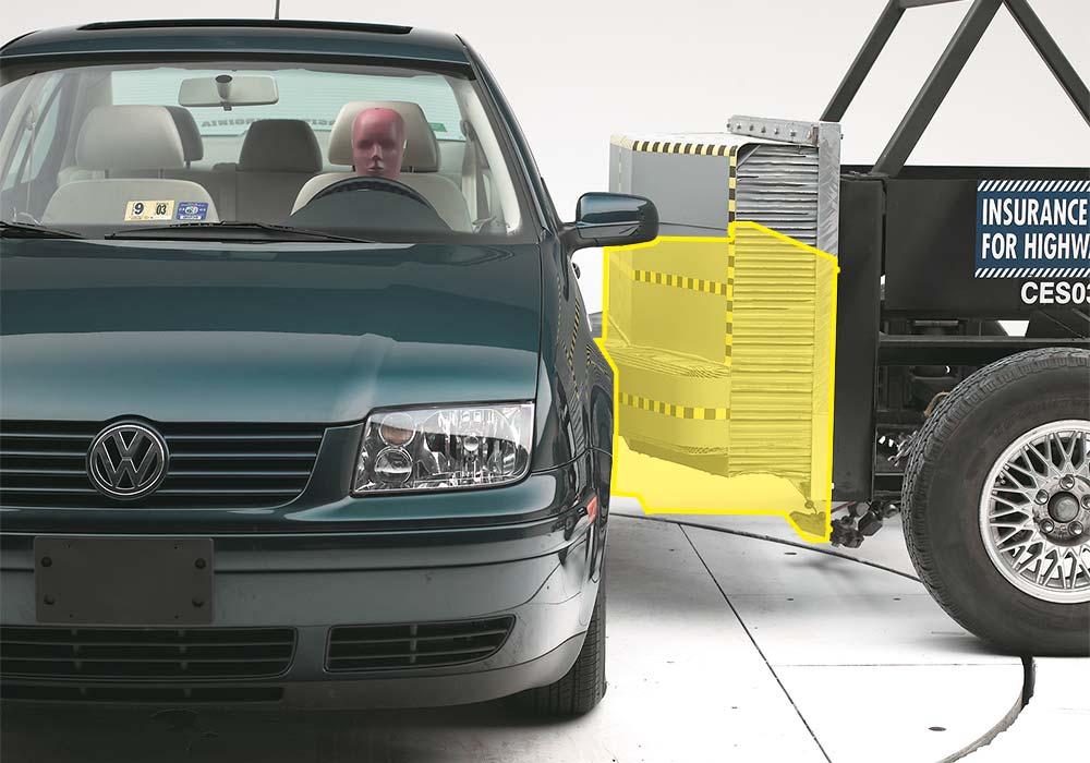 Os testes realizados por organizações não-governamentais ajudam a descobrir quais são os carros mais seguros do mundo (Imagem: IIHS/Reprodução)