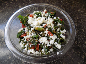 Sauteed Kale With Tomatoes And Queso Fresca Cheese Recipe