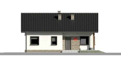 Dom przy Bukowej 15 - Elewacja przednia