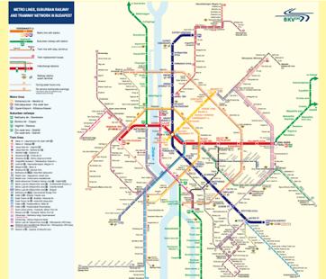 Budapest Subway Map