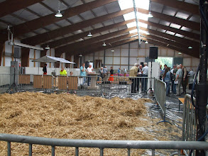 Photo: De ring waar de studiedag van de Toggenburger geiten zal plaatsvinden.