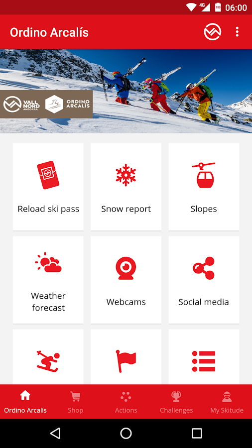 Vallnord App- screenshot