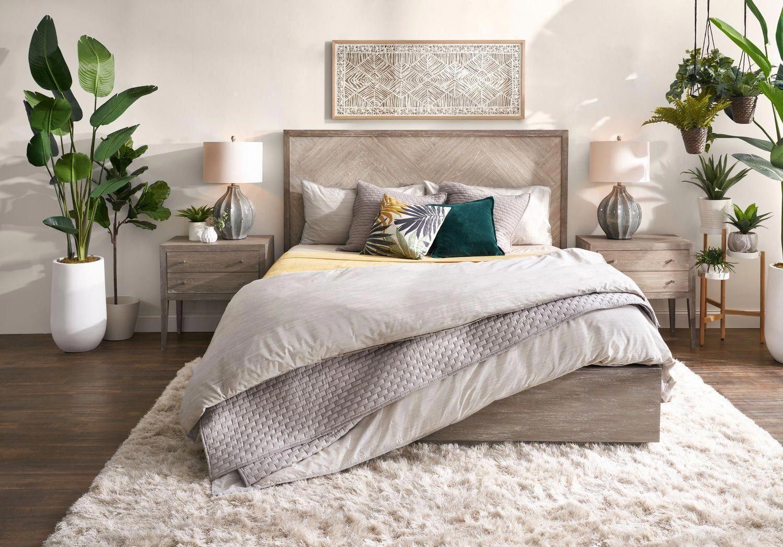Phòng ngủ đẹp khi trang trí thêm cây xanh