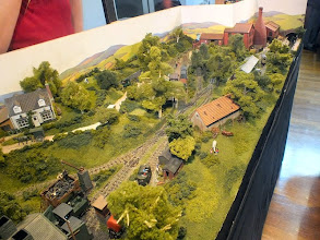 Photo: 008 An overhead view of Bottle Kiln Lane, showing John Thorne's characteristic scenic detail and colour. Another winning layout from John .