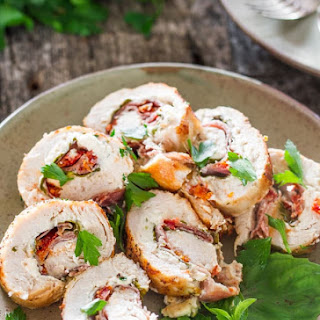Cheese and Prosciutto Stuffed Chicken Breasts.