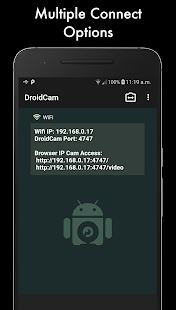 DroidCamX Wireless Webcam Pro Screenshot