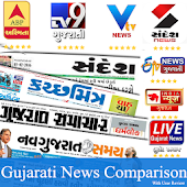 Gujarati News:TV9 Gujarati,Sandesh,ABP Asmita,VTV Android APK Download Free By Active News