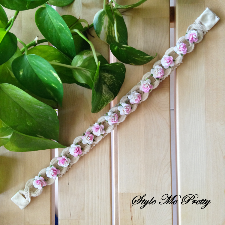 White mixed PInk Lady by Style Me Pretty