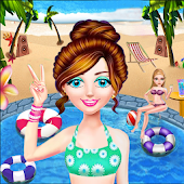 Summer Pool Party-Decorate Girls Swimming Pool Fun Android APK Download Free By New Color By Number Apps And Art Coloring Pages