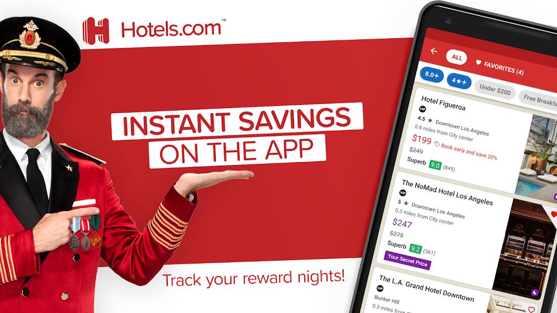 Hotels.com: Book Hotels, Vacation Rentals and More Android App Screenshot