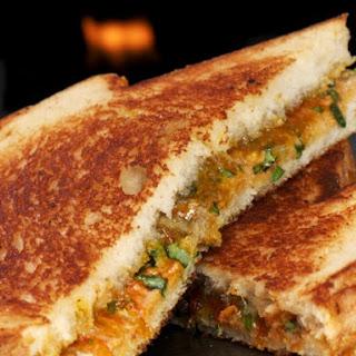 Spicy Thai Grilled Peanut Butter Sandwich.