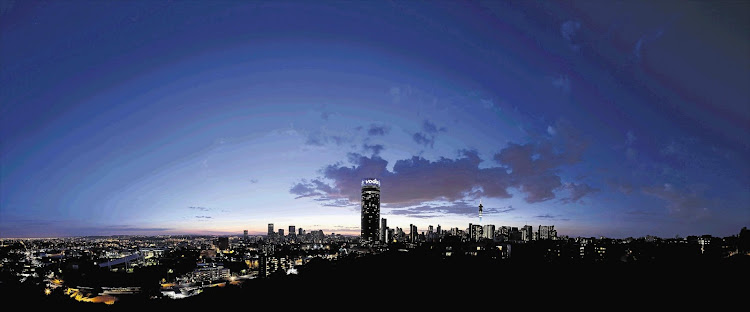 Johannesburg's skyline, photographed from Observatory. The 'sunshine city' has been commended for its spas and vegan-option restaurants.