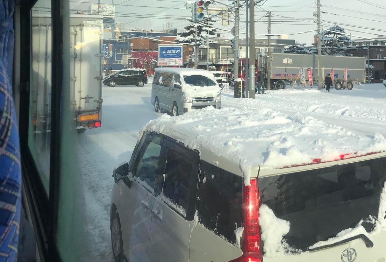 雪だるまの車