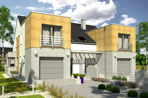 projekt Bazyli trend z garażem 1-st. bliźniak A-BL2