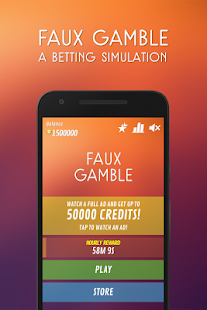 Faux Gamble - A Betting Simulation - náhled