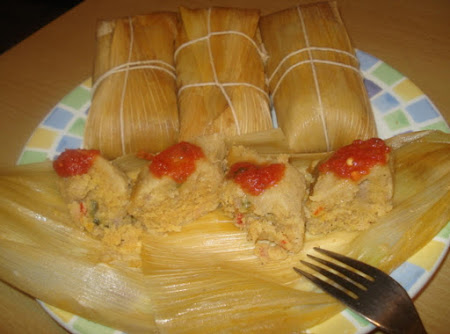 Cuban Tamales made with Fresh Corn, Tamales Cubanos de Maiz Criollo Tierno Recipe