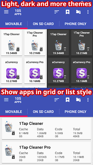 AppMgr Pro III (App 2 SD)- screenshot thumbnail