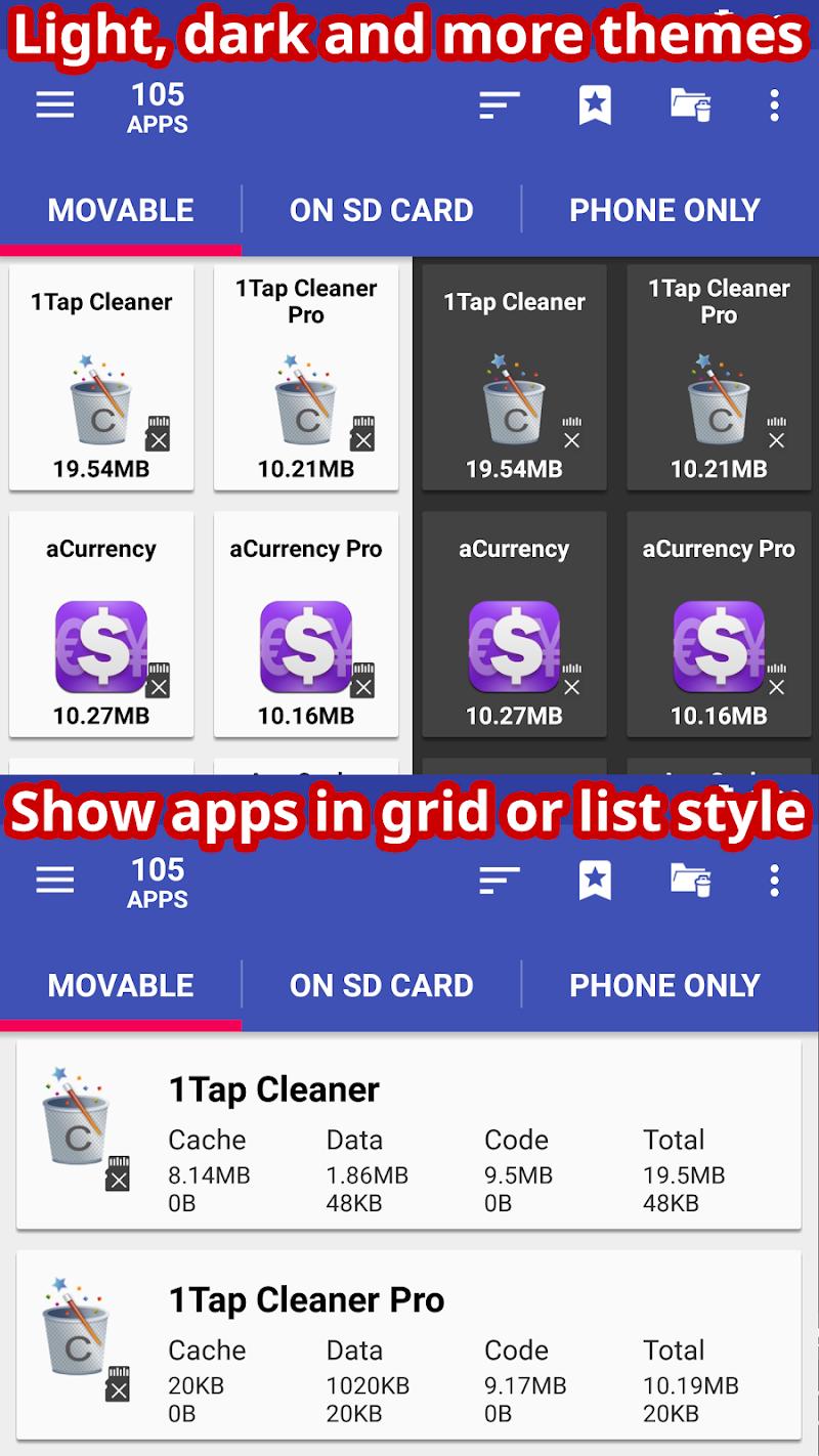 AppMgr Pro III (App 2 SD, Hide and Freeze apps) Screenshot 4