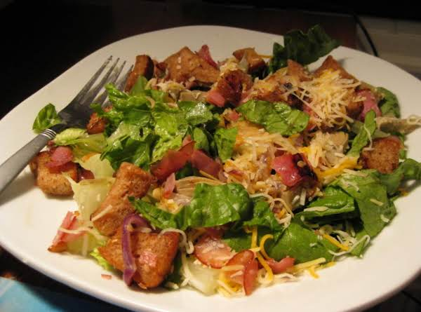 Wilted Caesar Salad With Ham And Red Onion