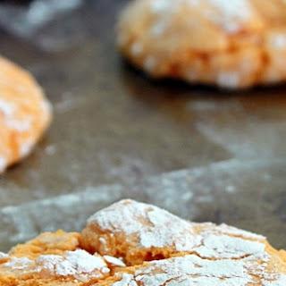 Orange Crinkle Cookies.