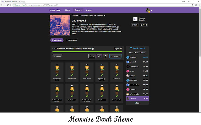 Memrise Dark Theme