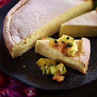 Vanilla Custard Tart with Tropical Fruit.