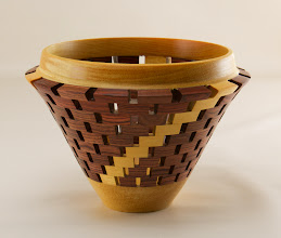 "Photo: Bob Grudberg 6"" x 6"" open segmented vessel [bubinga]"
