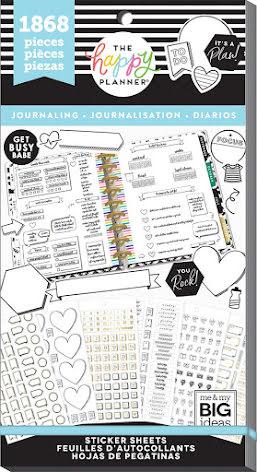 Me & My Big Ideas Happy Planner Sticker Value Pack - Journaling 1868