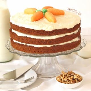 100% Whole Grain Carrot Cake.