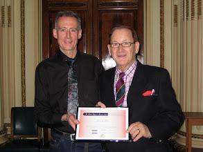 Photo: Award Ceremony - David Betts receives award on behalf of Ross Smith & Part Two club