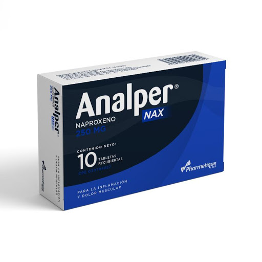 Naproxeno Analper Nax 250Mg 10 Cápsulas Pharmetique