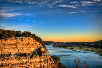 Photo: Went up to the 360 bridge for the sunset last night. There were so many people there that it was almost impossible to get an actual shot of the bridge so I spent most of my time facing the other direction. But, I loved the way the light hits these rocks and would like to try and get them from another vantage point sometime.  Austin, TX