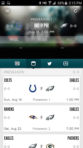 Eagles Official Mobile Screenshot