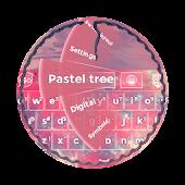 Pastel tree GO Keyboard