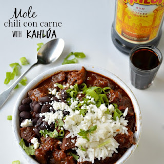 Mole Chili Con Carne with Kahlua