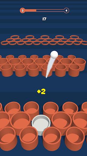 Basket throw: cup pong ball game. Toss & dunk it! ss3