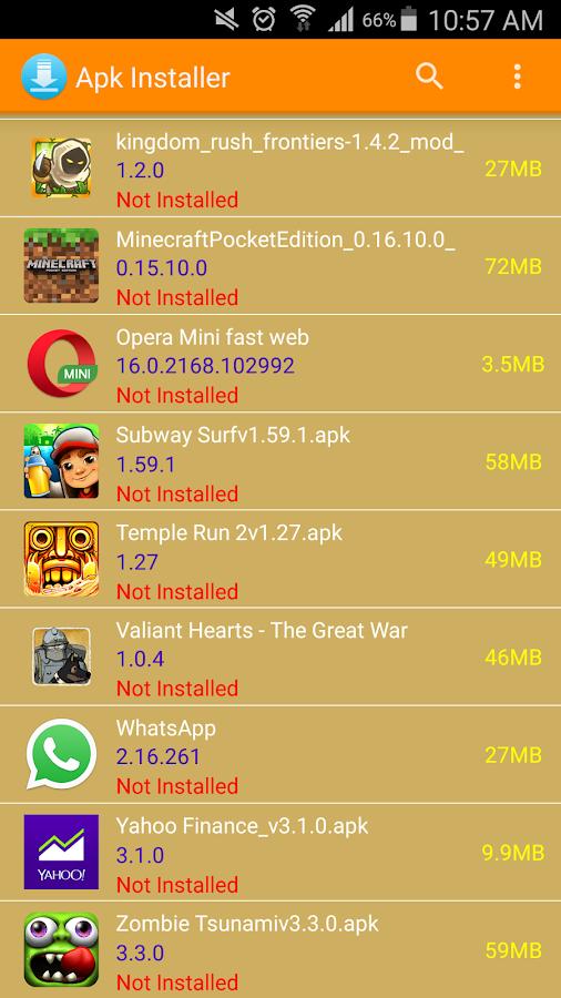 google installer new apk