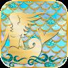 Shiny Turquoise Mermaid Theme APK