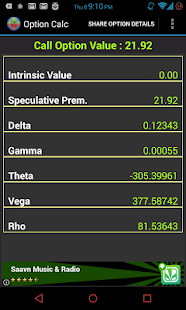 Stock options premium calculator